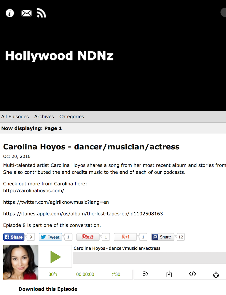 Singer Songwriter Actress A Girl I Know | Carolina Hoyos on Hollywood NDNz