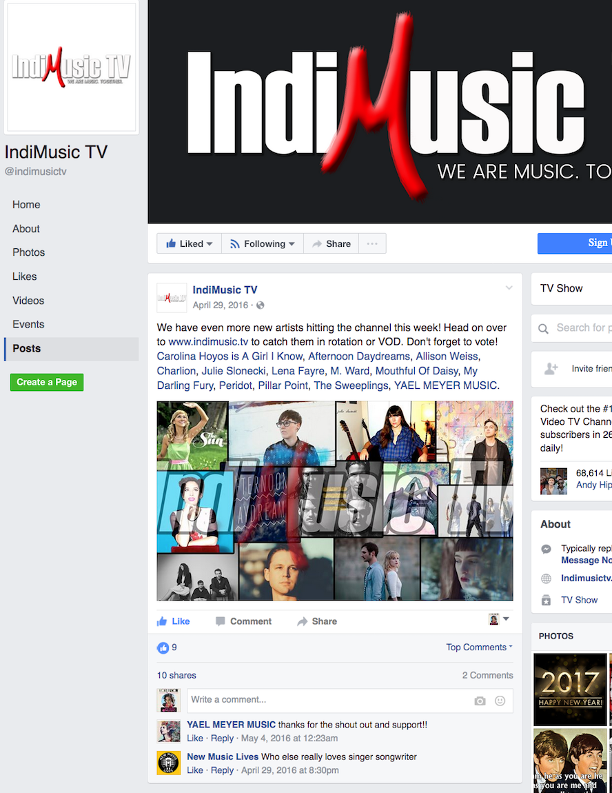 Singer Songwriter Actress A Girl I Know | Carolina Hoyos on IndiMusic TV