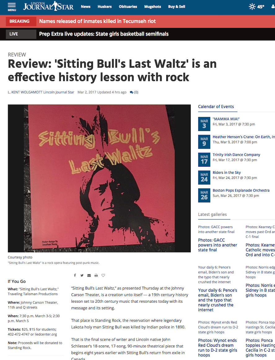 Singer Songwriter Actress A Girl I Know | Sitting Bull's Last Waltz in Lincoln Journal Star
