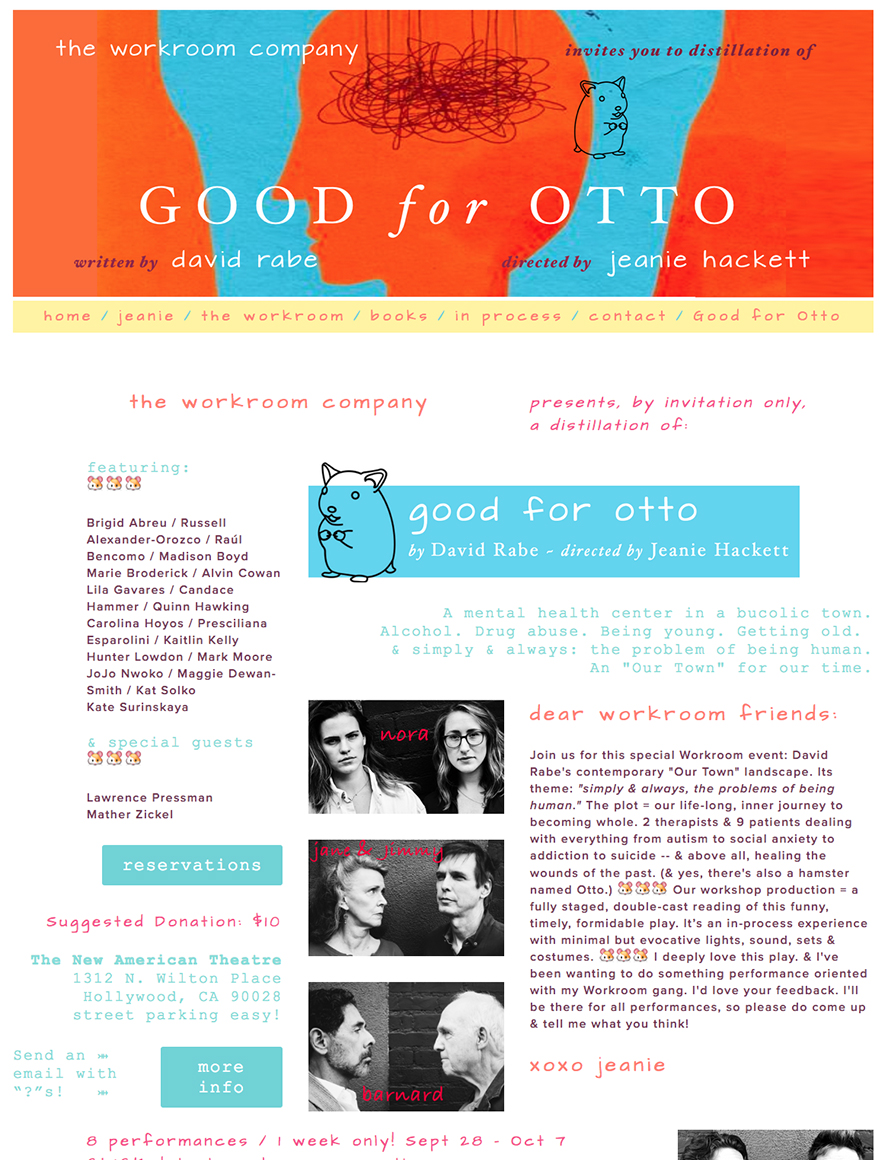 Singer Songwriter Actress A Girl I Know | Carolina Hoyos in Good for Otto by David Rabe at New American Theatre