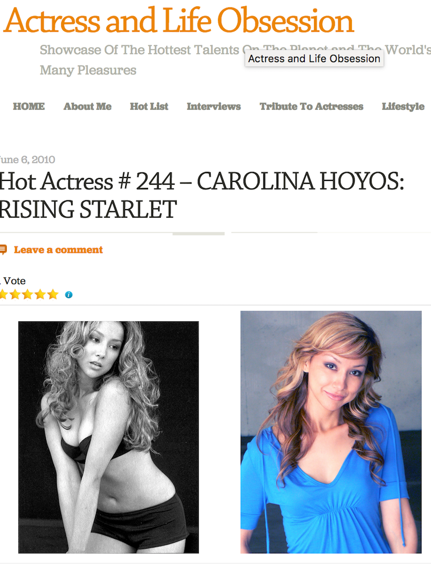 Singer Songwriter Actress A Girl I Know | Carolina Hoyos on Gornoblonde Blog